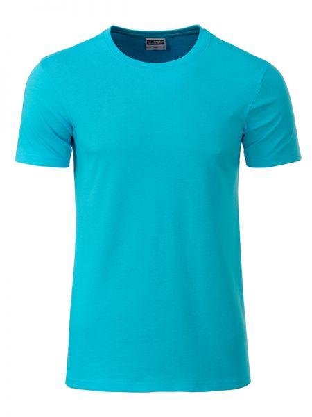 Herren Shirt türkis Bio-Baumwolle Tradition Daiber