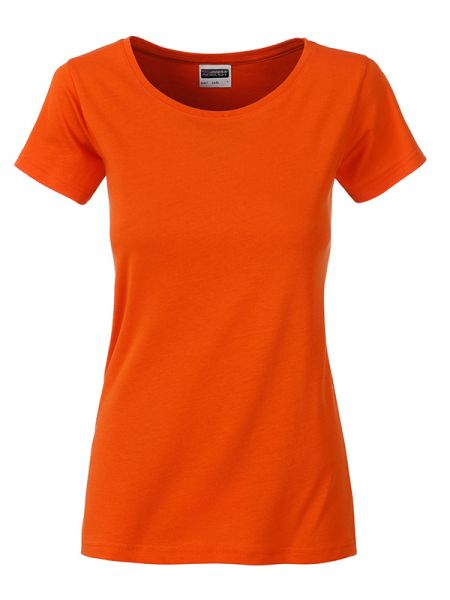 Damen Shirt dark-orange Bio-Baumwolle Tradition Daiber
