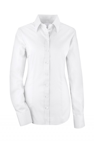 GREIFF premium - style 6512 Damenbluse langarm in weiß | bleu - slim fit