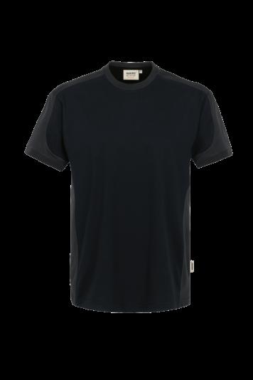 Herren T-Shirt Performance-Contrast Rundhals - Materialmix Mikralinar - viele Farben | HAKRO 290