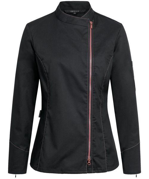 Damen Kochjacke mit Kontrastreissverschluss regular fit | GREIFF Premium 5409