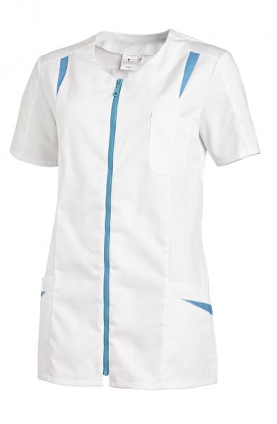 Hosenkasack ½ Arm in Weiß/Türkis
