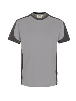 Herrenshirt in Titan mit Kontrastensatz