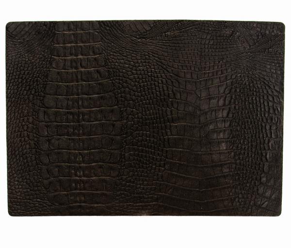 Leder - Tischset im Croco-Style - 4 Stück schwarz 656 | 97 EXNER
