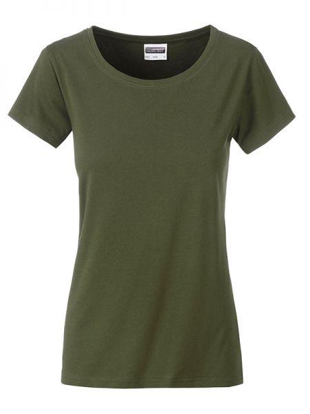 Damen Shirt olivgrün Bio-Baumwolle Tradition Daiber