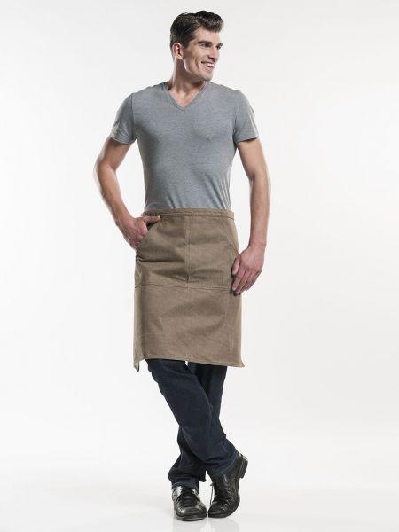 Jeans Schürze - Bistroschürze 80 x 60 cm Mud Denim