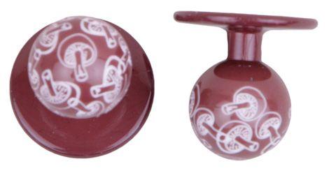 Exner Kugelknöpfe braun mit Pilzen - 1 Pack mit 12 Stück