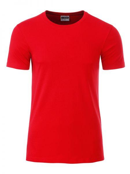 Herren Shirt hellrot Bio-Baumwolle Tradition Daiber