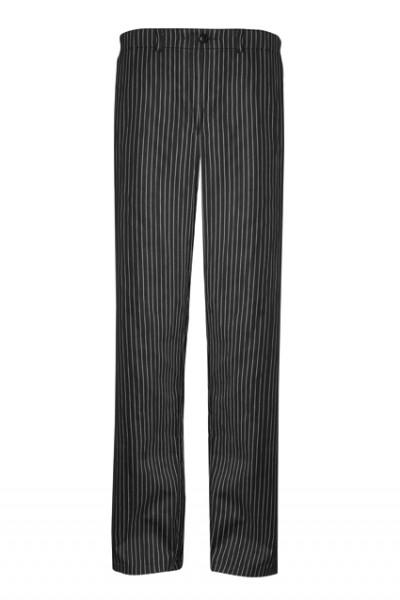 GREIFF - style 110 Herren Kochhose schwarz-weiß gestreift