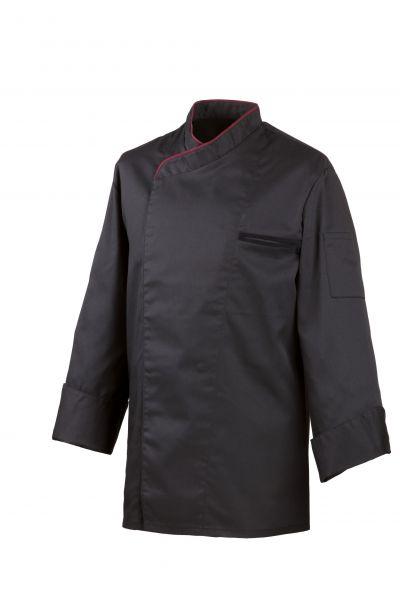 Exner Kochjacke schwarz mit verdeckter Knopfleiste