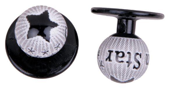 Exner Kugelknöpfe mit Stern - 1 Pack mit 12 Stück