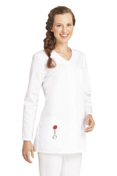 Hosenkasack mit langem Arm in Weiß