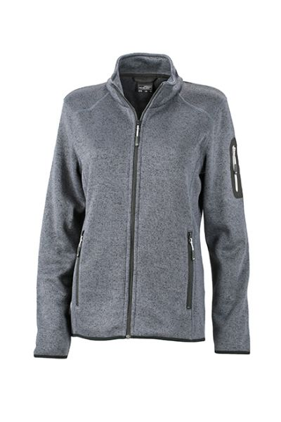 Damen Fleecejacke dark-grey-melange Tradition Daiber