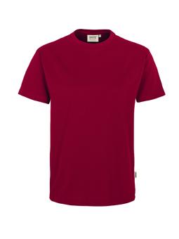 Herren Shirt in Weinrot mit Rundhals-Ausschnitt