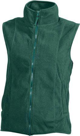 Damen Fleece Weste - dunkelgrün