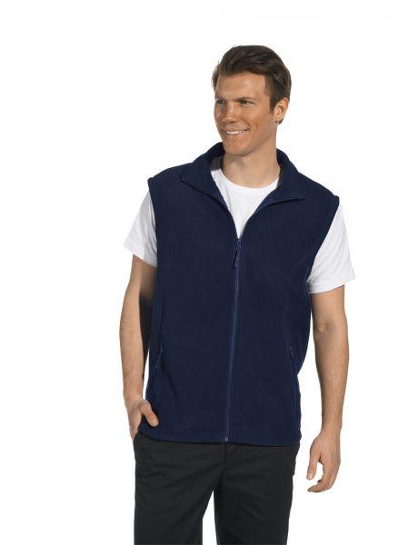 LEiBER Fleeceweste für Männer 10-2474 in schwarz oder marine blau