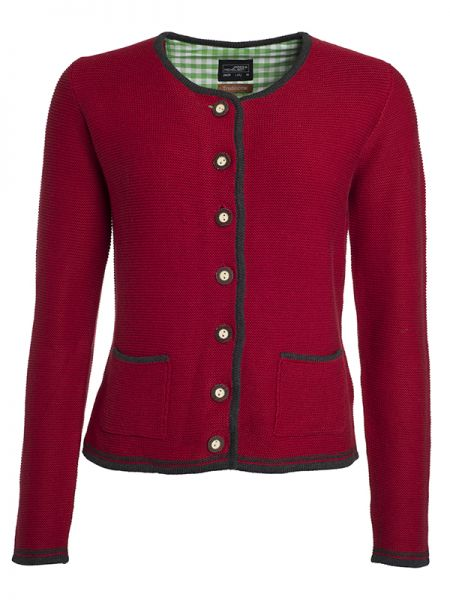 Damen Trachten Strickjacke red Tradition Daiber