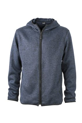 Herren Fleece Hoody denim-melange Tradition Daiber