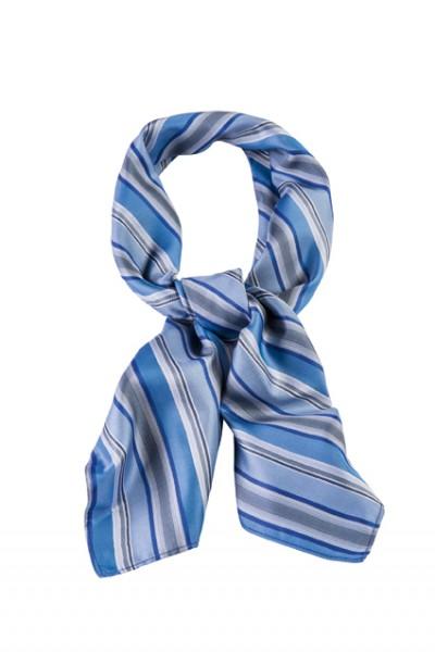 GREIFF - style 6901 Tuch 70x70 gestreift blau/grau
