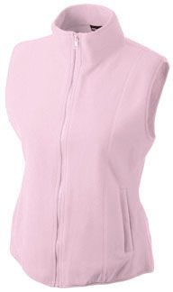 Damen Fleece Weste - light pink