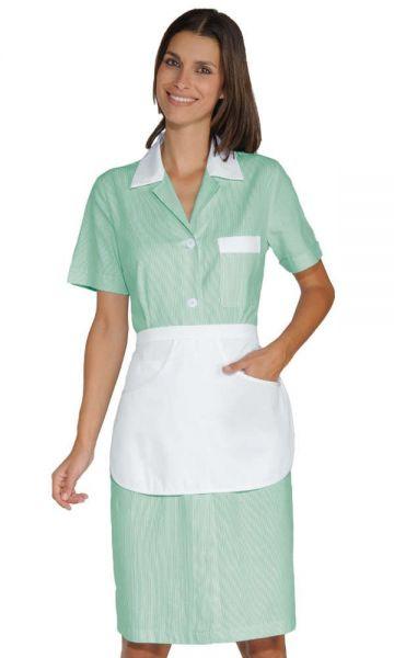 Zimmermädchenkleid grün gestreift mit Schürze Positano isacco