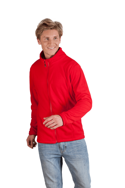 Herren Fleece Jacke rot