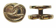 Exner Motivknöpfe Brezel premium gold - 1 Pack mit 12 Stück