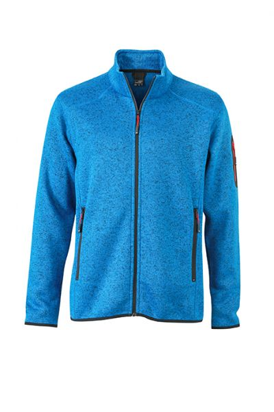 Herren Fleecejacke royal-melange Tradition Daiber
