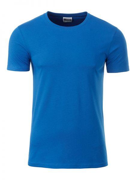 Herren Shirt cobalt Bio-Baumwolle Tradition Daiber