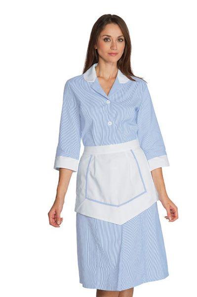 Zimmermädchenkleid blau ¾ Arm Lipari isacco