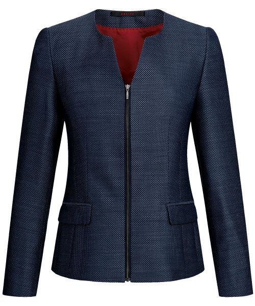 Business Damen Blazer regular fit blau strukturiert | GREIFF Casual 1439