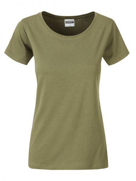 Damen Shirt khaki Bio-Baumwolle Tradition Daiber