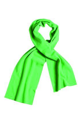 Extrabreiter Fleece Schal grün