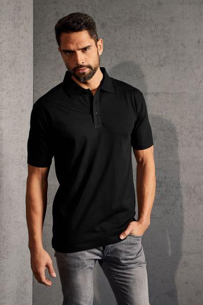 Polohemd Herren Jersey schwarz