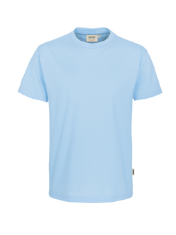 Herren Shirt in Eisblau mit Rundhals-Ausschnitt
