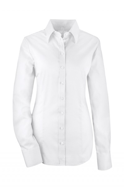 GREIFF modern - style 6519 Damenbluse langarm in weiß | schwarz - slim fit