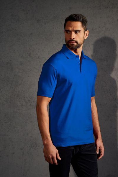 Polohemd Herren Jersey royal blau