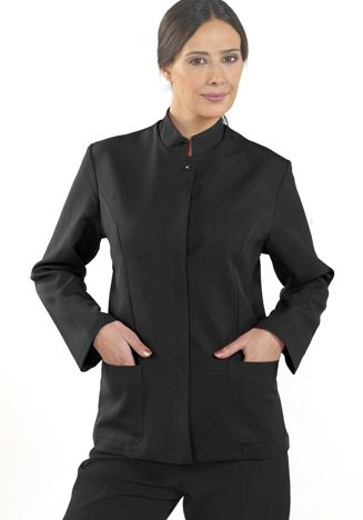 Damen Stehkragenjacke - LIVORNO - schwarz
