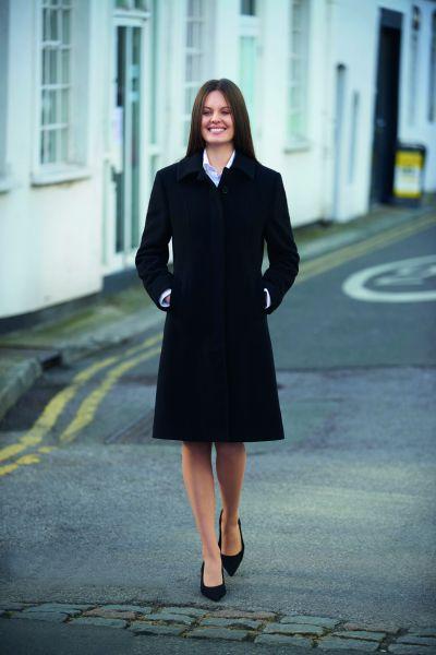 Eleganter Damen-Mantel BURLINGTON mit Zierriegel regular fit | BROOK Taverner Outerwear 2261