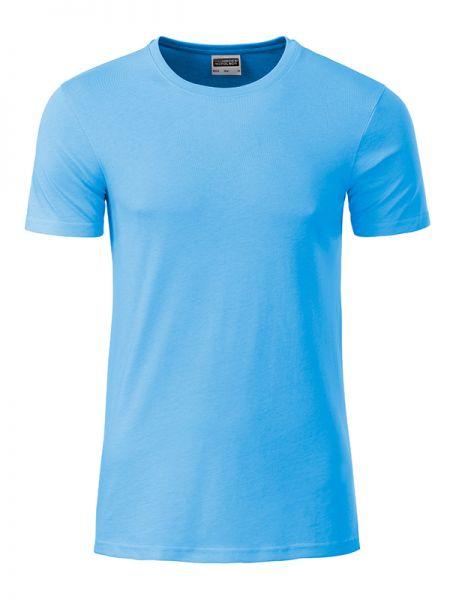 Herren Shirt sky-blue Bio-Baumwolle Tradition Daiber