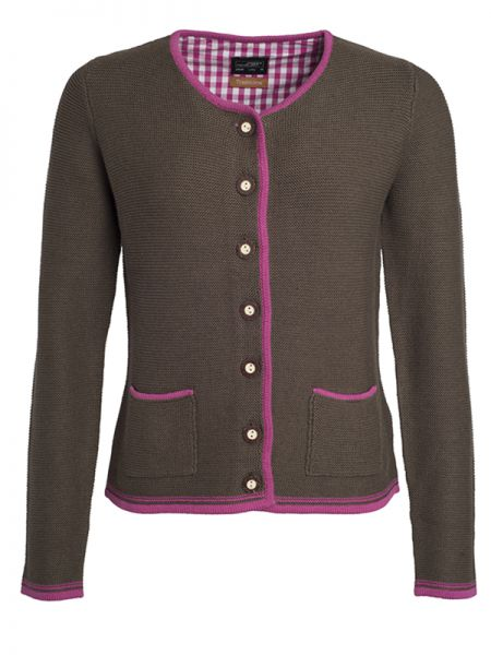 Damen Trachten Strickjacke brown Tradition Daiber