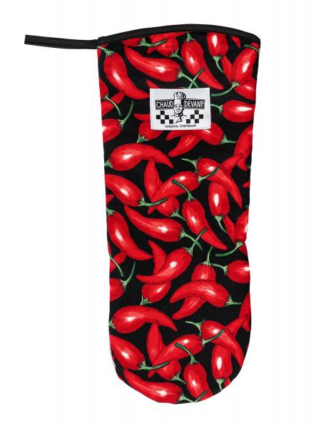 Ofenhandschuh schwarz-rot 709 Chaud Devant