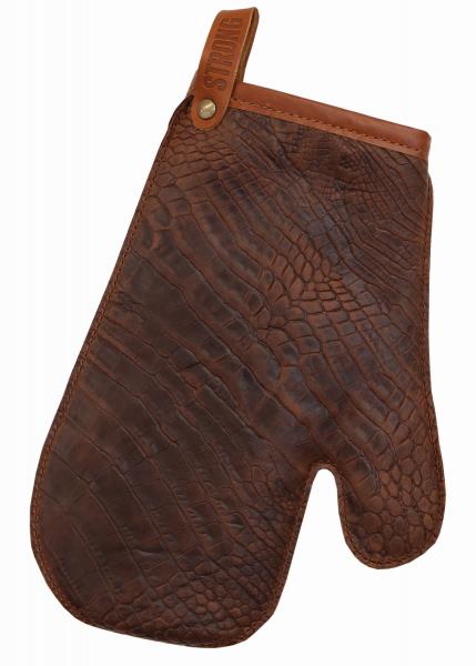 Leder - Ofen-Handschuh cognac 666   97 EXNER