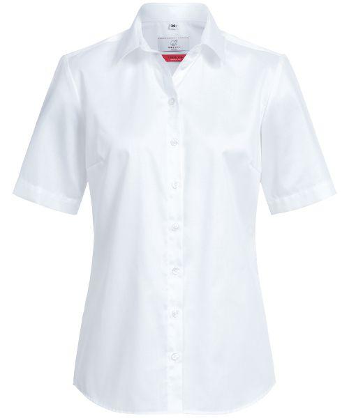 Business Damen Bluse comfort fit weiss Kurzarm | GREIFF Premium 6565