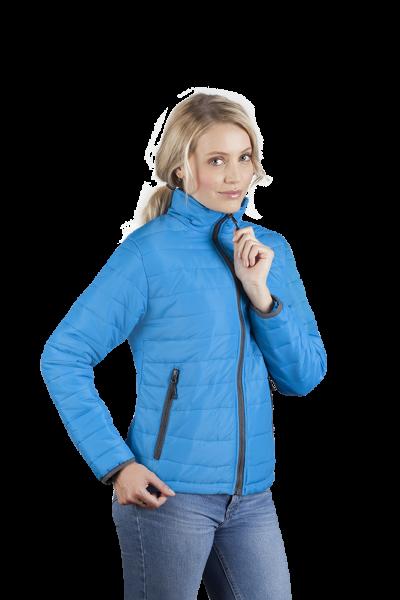 Wattierte Damen Jacke aquablau