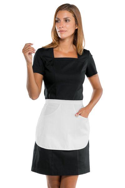 Modernes Zimmermädchenkleid Hauskleid Manila schwarz | isacco 007201G