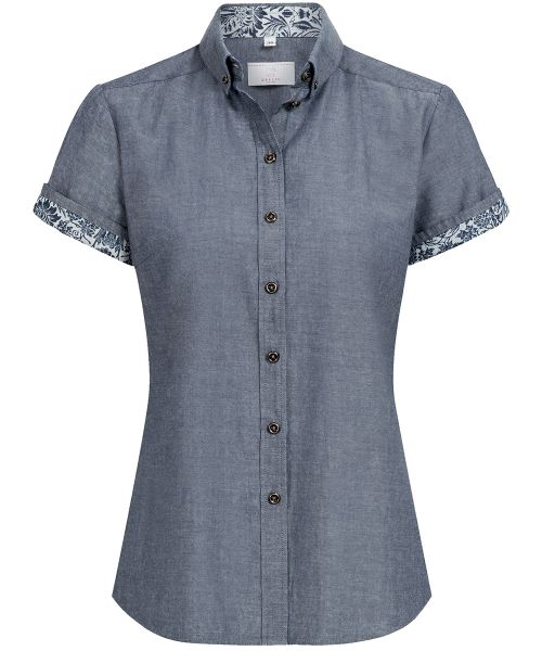 Flower Denim Damen Bluse für Gastronomie & Service regular fit | GREIFF Service 6535