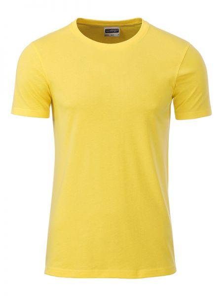 Herren Shirt gelb Bio-Baumwolle Tradition Daiber