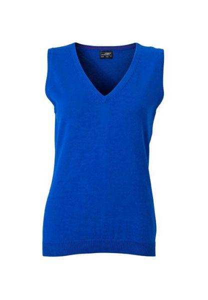 Damen Pullunder - royal-blau