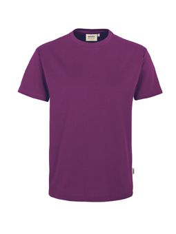 Herren Shirt in Aubergine mit Rundhals-Ausschnitt